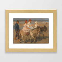 Donkey Rides on the Beach, Isaac Israels, c. 1890 - c. 1901 Framed Art Print