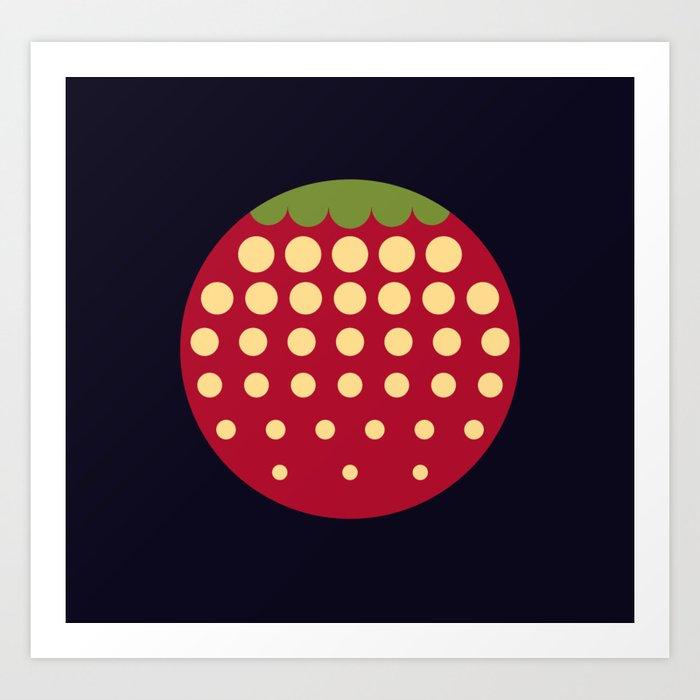 strawberry || russian black Kunstdrucke