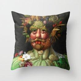 Rudolf II as Vertumnus by Giuseppe Arcimboldo, 1591 Throw Pillow