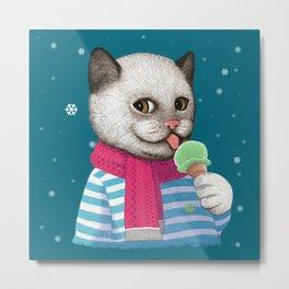 Ice cream & Snow Metal Print