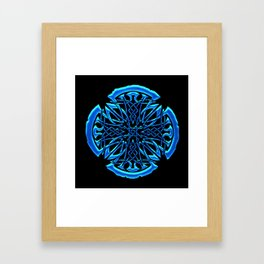 Blue Iron Cross Framed Art Print