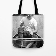 Ronn boating it up. Tote Bag
