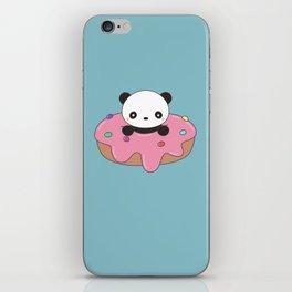 Kawaii Cute Panda Donut iPhone Skin