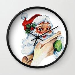 Christmas Santa Claus Holiday Wall Clock