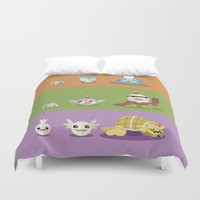 digimon Duvet Covers featuring Hey Digimon, hey Digimon!  by Sindorman