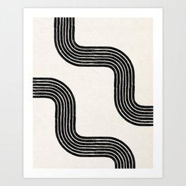 Abstract Modern Lines Art Print