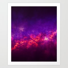 Painted Clouds Vapors I Art Print