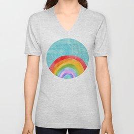 rainbow Unisex V-Neck