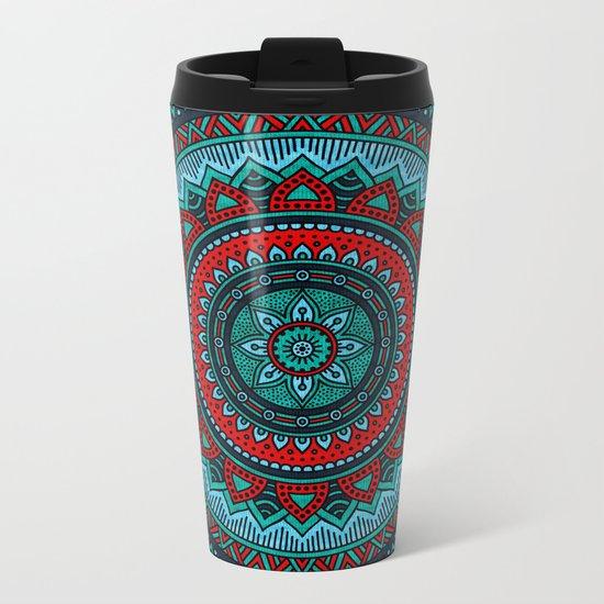 Hippie mandala 35 Metal Travel Mug