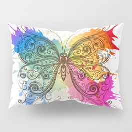 Colorful Butterfly Pillow Sham