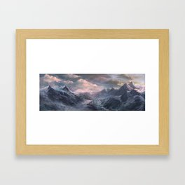 The Mountains Framed Art Print