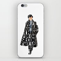 sherlock holmes iPhone & iPod Skins featuring Sherlock Holmes by Ayse Deniz