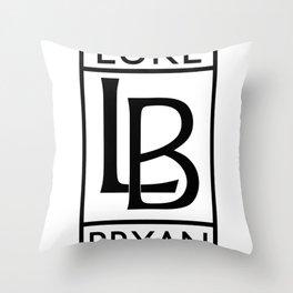 Luke Bryan Rolls Royce Symbol Throw Pillow
