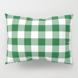 Hunter Green Checker Gingham Plaid Pillow Sham