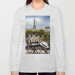 Eiffel Tower Paris Balcony View Long Sleeve T-shirt