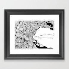 surfer dude Framed Art Print