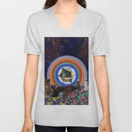 The Sky Holds a Radiant Canvas Unisex V-Neck