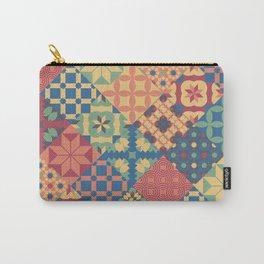 Leiden vintage quilt tiles mosaic Carry-All Pouch