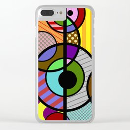 Patterned Retro - Geometric, Abstract Artwork Clear iPhone Case