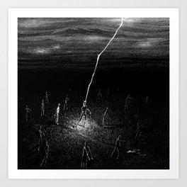 Electric Zombie Art Print