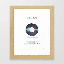 BREAKBEAT Framed Art Print