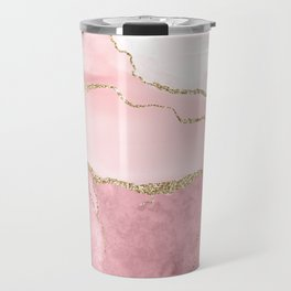 Blush Marble Art Landscape Travel Mug
