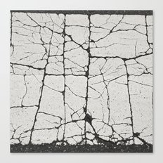 Cracked Crossing Canvas Print