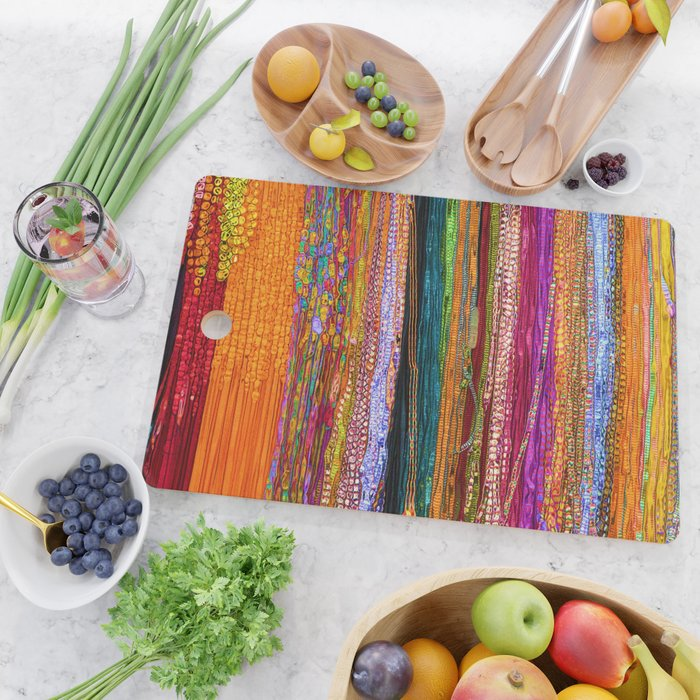 Indian Colors Cutting Board