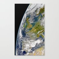 europe Canvas Prints featuring Europe by Planet Prints