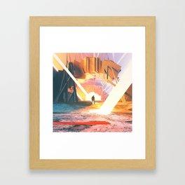 Stone Light Framed Art Print