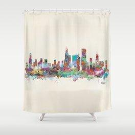Chicago Illinois skyline Shower Curtain