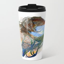 Night time seeping into both sides of the day Metal Travel Mug