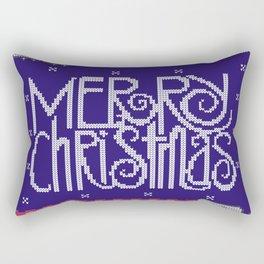 Merry Christmas with cats Rectangular Pillow
