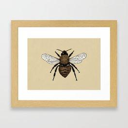 Bumblebee illustration Framed Art Print
