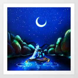 Starry Night Aladdin Art Print
