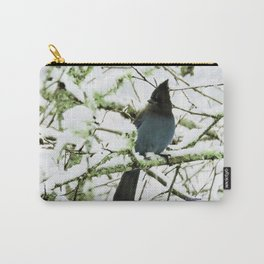 Steller's Jay in the Snow Carry-All Pouch