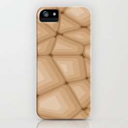 BROWN STONE Abstract Art iPhone Case
