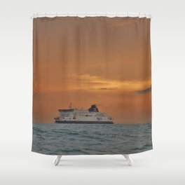 Ferry At Sunrise Shower Curtain