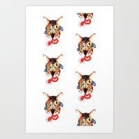 Blu Tear Print Art Print
