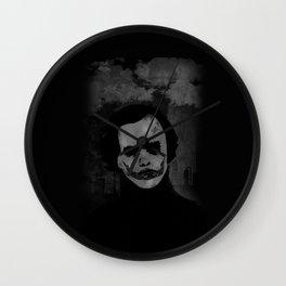 Joker Heath Ledger painting black and white Wall Clock