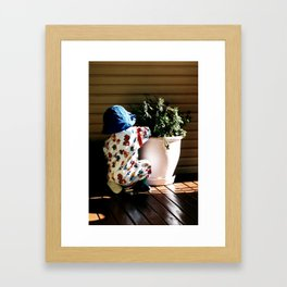 Ben and flowerpot Framed Art Print