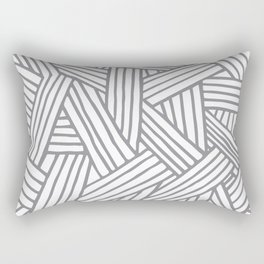 Inter Lines Gray Rectangular Pillow
