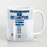 r2d2 Mugs featuring R2D2 by ANDY