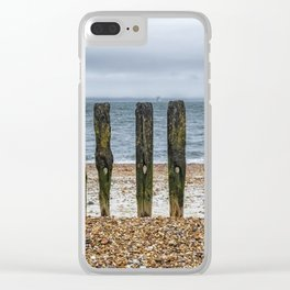 Southsea Seafront - Stumps! Clear iPhone Case