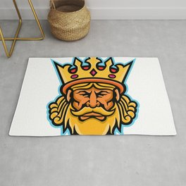 King With Crown Mascot Rug