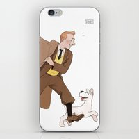 tintin iPhone & iPod Skins featuring come on snowy! by pinkmilkbutt
