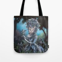 marie antoinette Tote Bags featuring Marie Antoinette by Christina Hess
