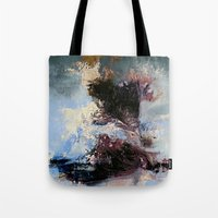 psychology Tote Bags featuring CATHARTIC by THE USUAL DESIGNERS