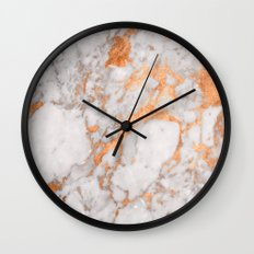 Copper Marble Wall Clock