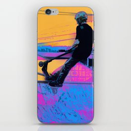 On Edge -  Stunt Scooter Artwork iPhone Skin